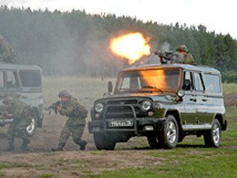 Военные провели масштабные учения в Рубцовске