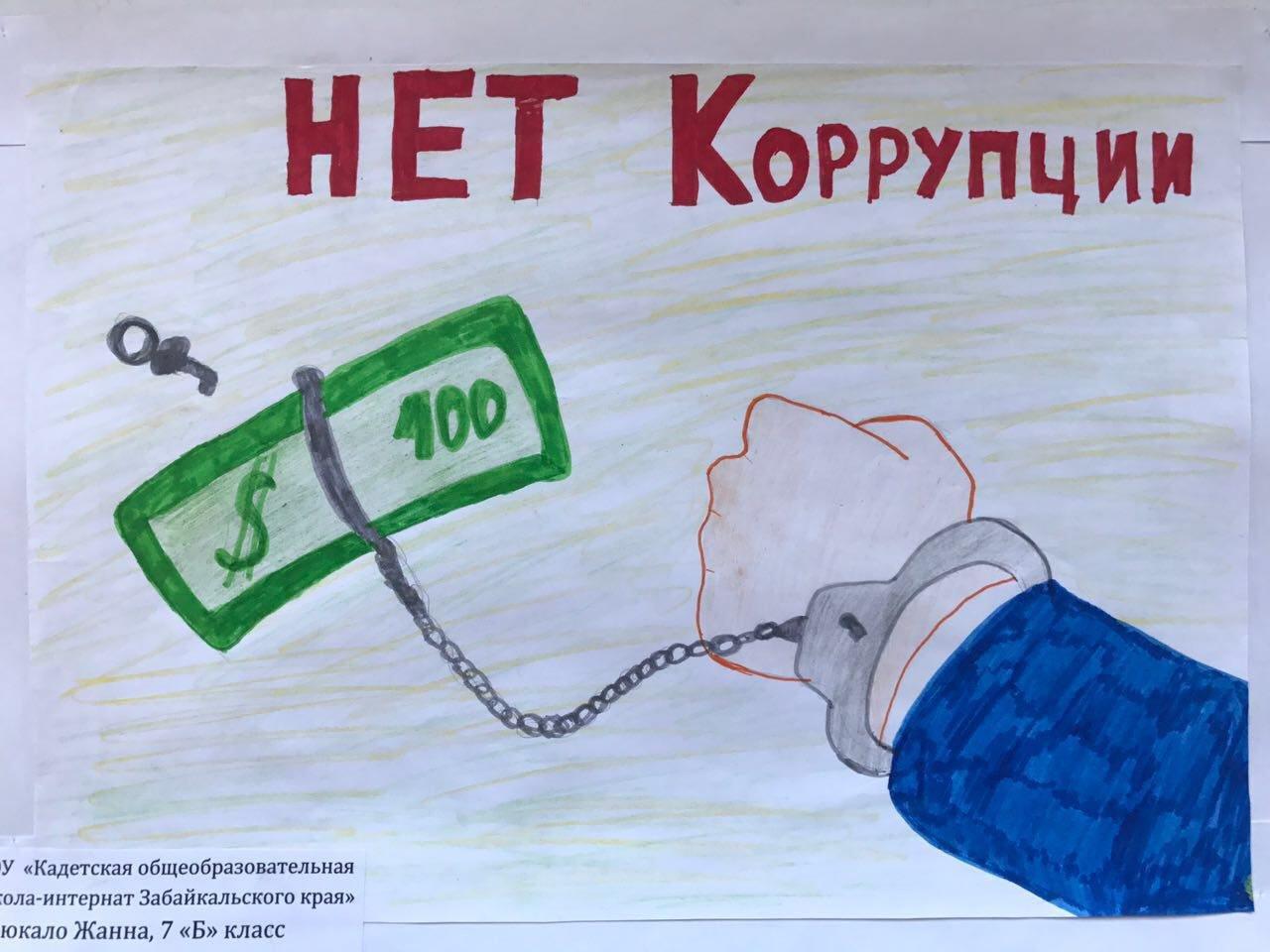 Коррупции нет рисунок карандашом