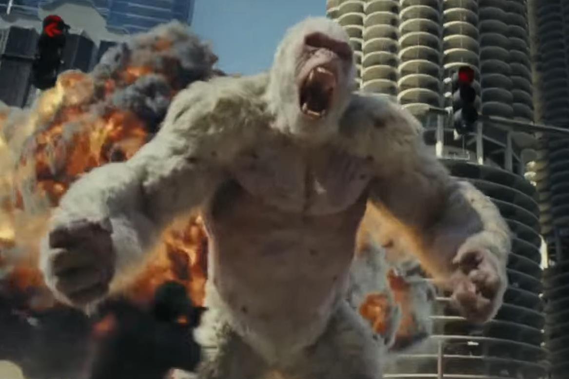 «Рэмпейдж»: как Дуэйн Джонсон дрессировал гориллу