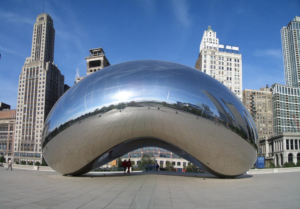 Скульптура Клайд-Гейт в Чикаго