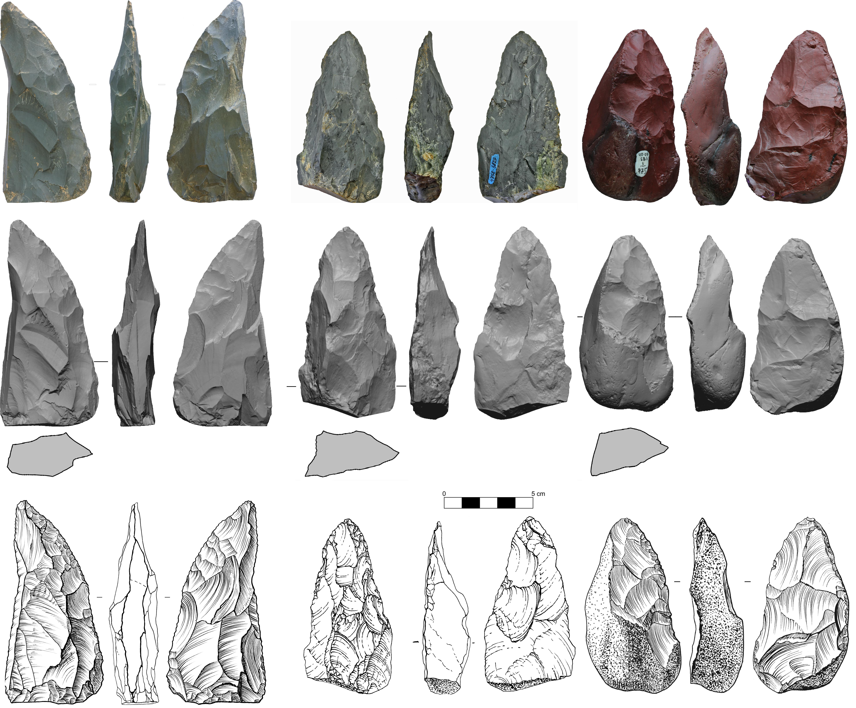 Сравнение немецких и алтайских орудий неандертальцев