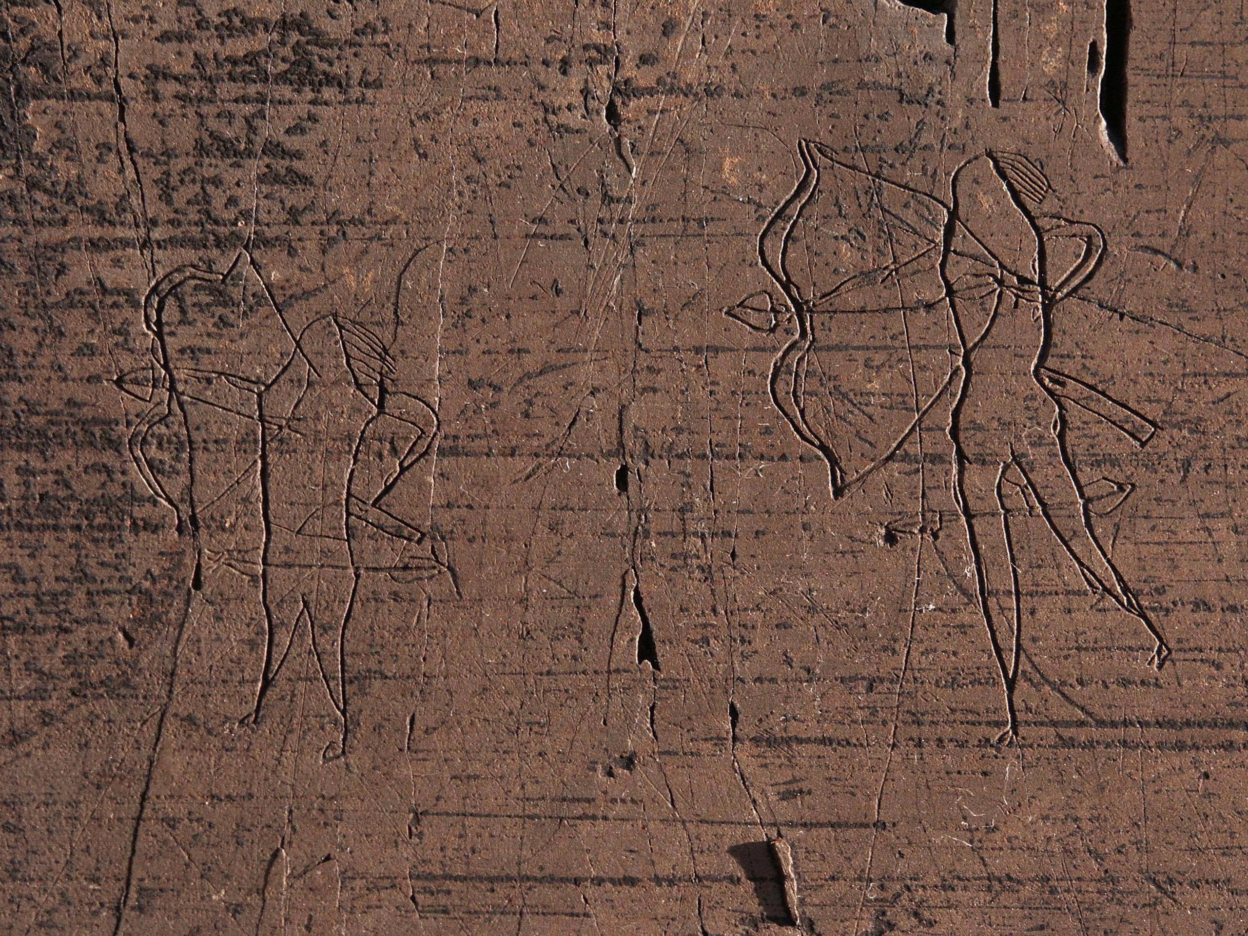 Сцена войны, древнетюркская эпоха, VI — IX века