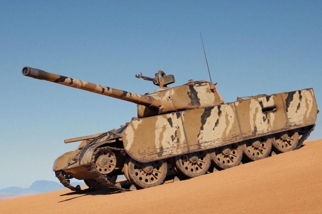 Танк Т-44-100 (Р)с уникальным камуфляжем