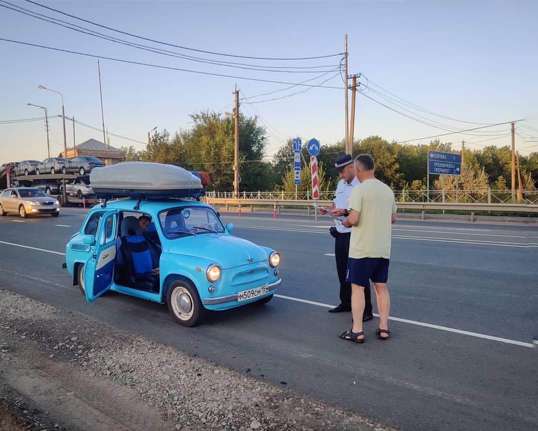 «Запорожец» на пути в Крым